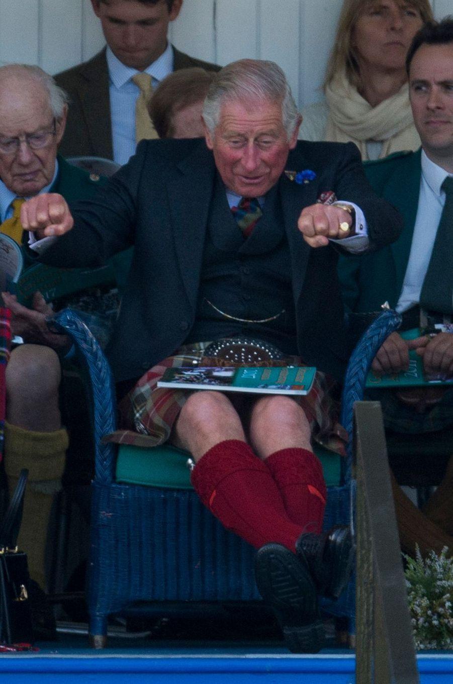 Le prince Charles au Highlands Braemar Gathering en Ecosse, le 2 septembre 2017