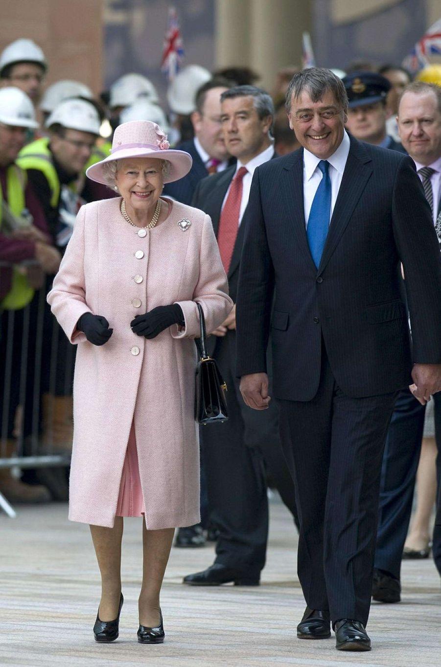 La reine Elizabeth II avec le duc de Westminster à Liverpool, le 22 mai 2008