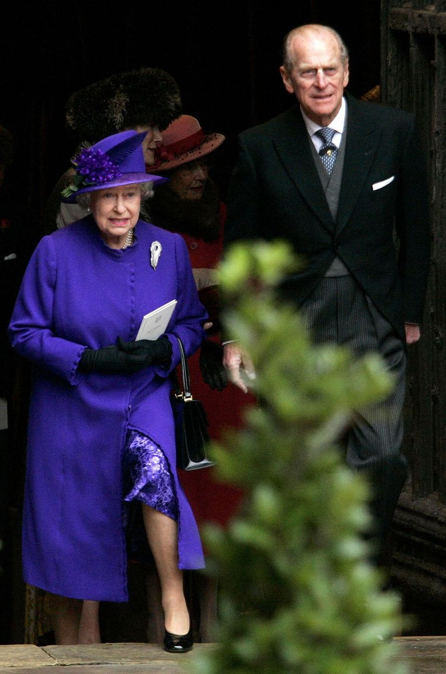 La reine Elizabeth II et le prince Philip au mariage de Lady Tamara Grosvenor, le 6 novembre 2004
