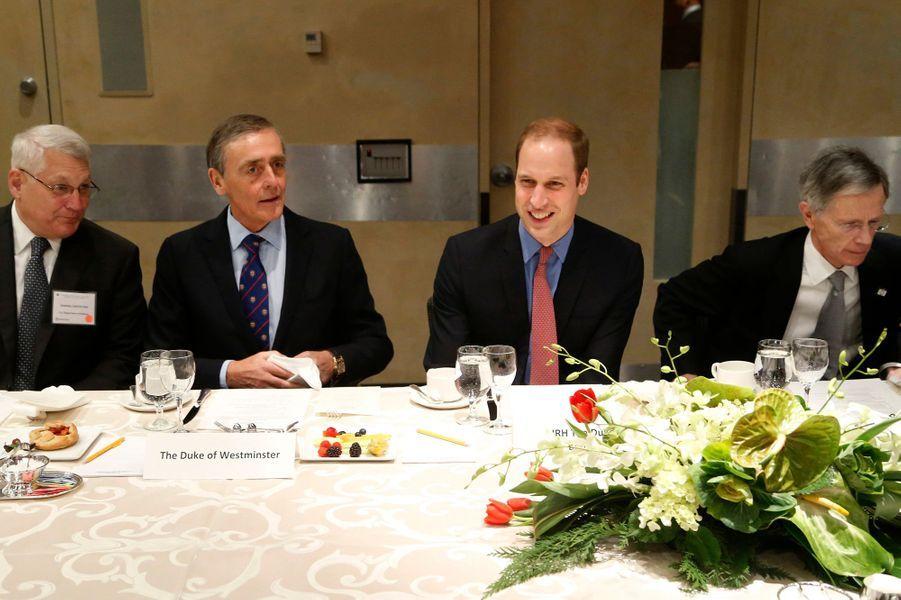 Le prince William avec le duc de Westminster à Washington, le 8 décembre 2014