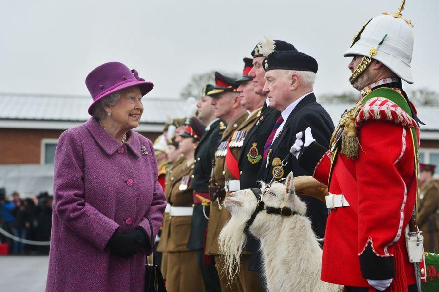 La reine Elizabeth II à Tidworth, le 3 mars 2017