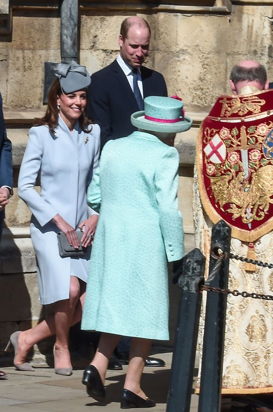 Kate Middleton, duchesse de Cambridge, et la reine Elizabeth II à Windsor, le 21 avril 2019