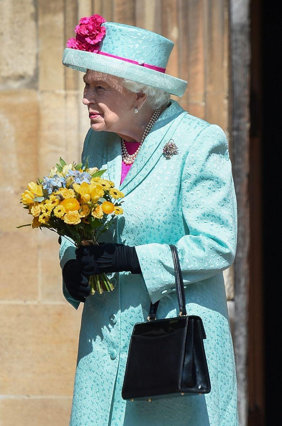 La reine Elizabeth II à Windsor, le 21 avril 2019