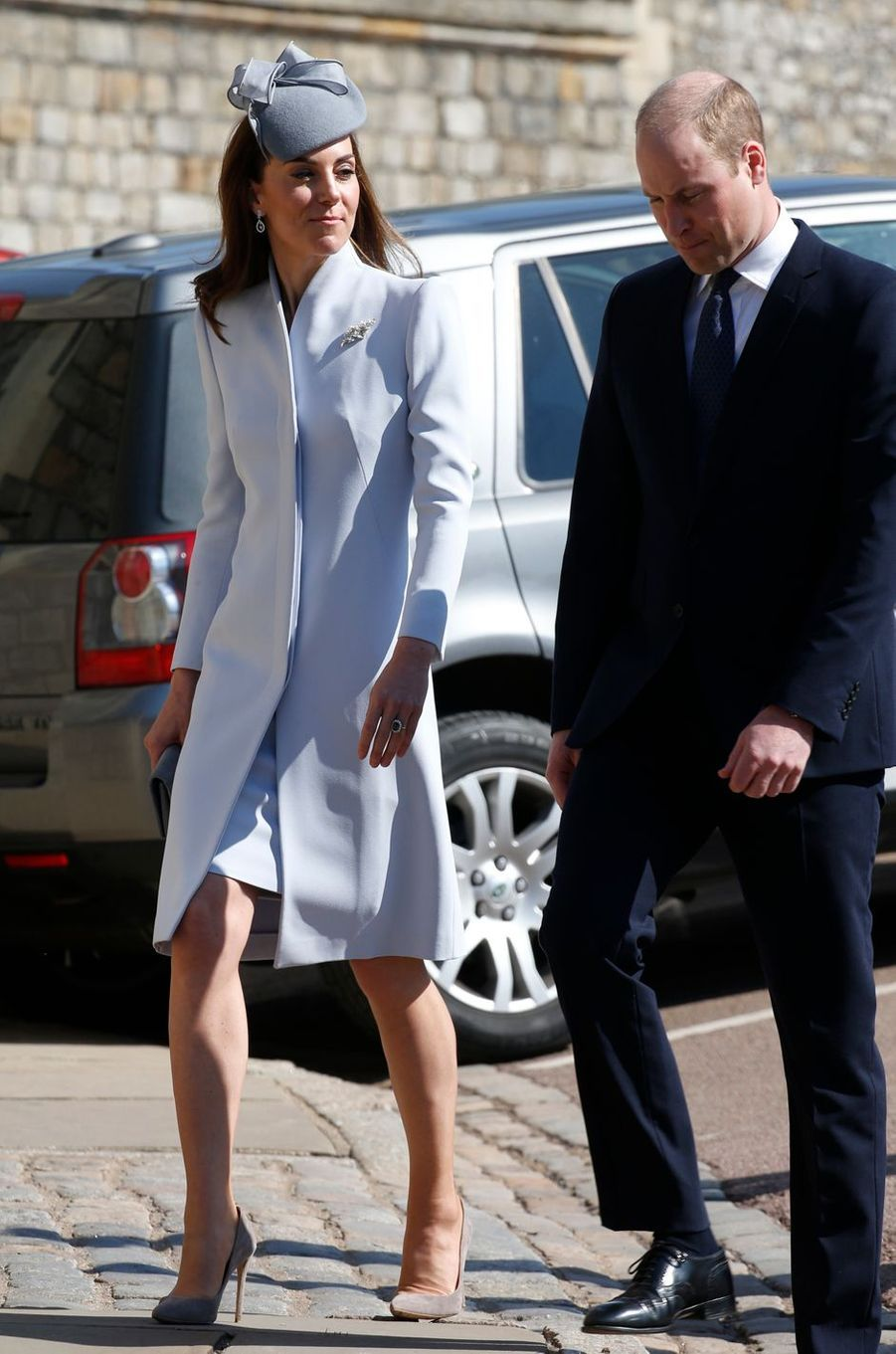 Kate Middleton, duchesse de Cambridge, à Windsor, le 21 avril 2019