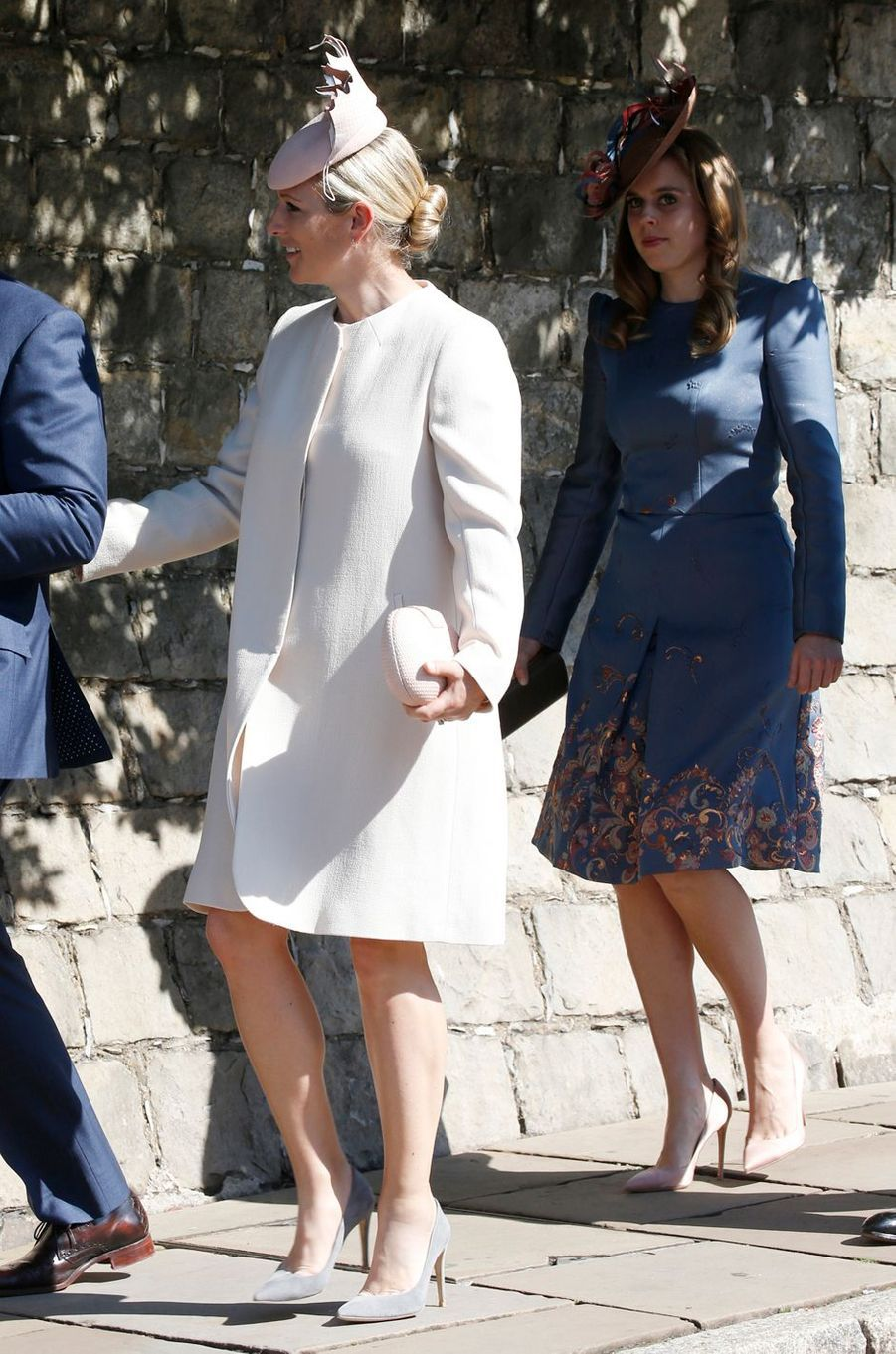 Zara Phillips et la princesse Beatrice d'York à Windsor, le 21 avril 2019