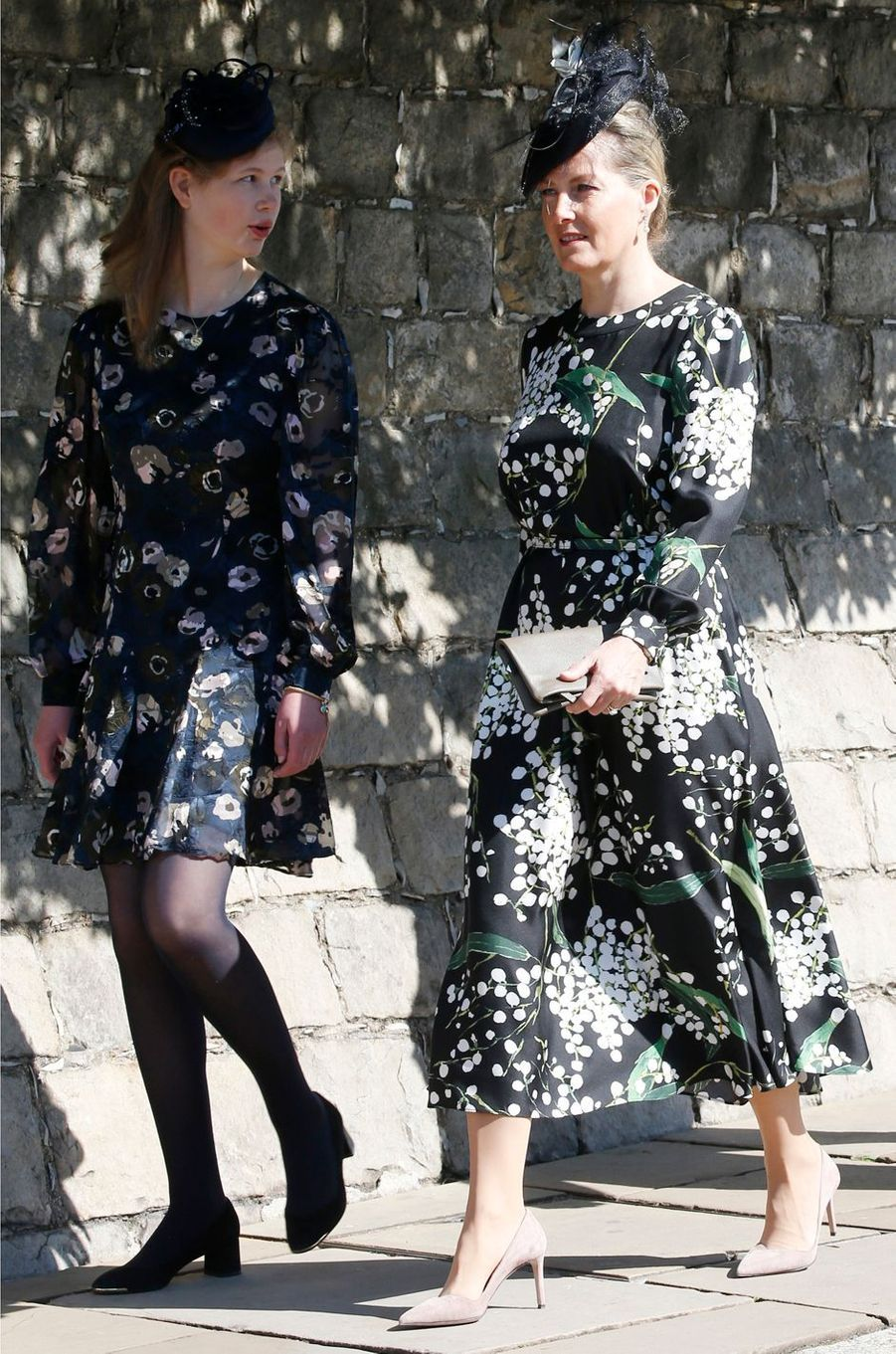 Lady Louise Windsor et sa mère la comtesse Sophie de Wessex à Windsor, le 21 avril 2019