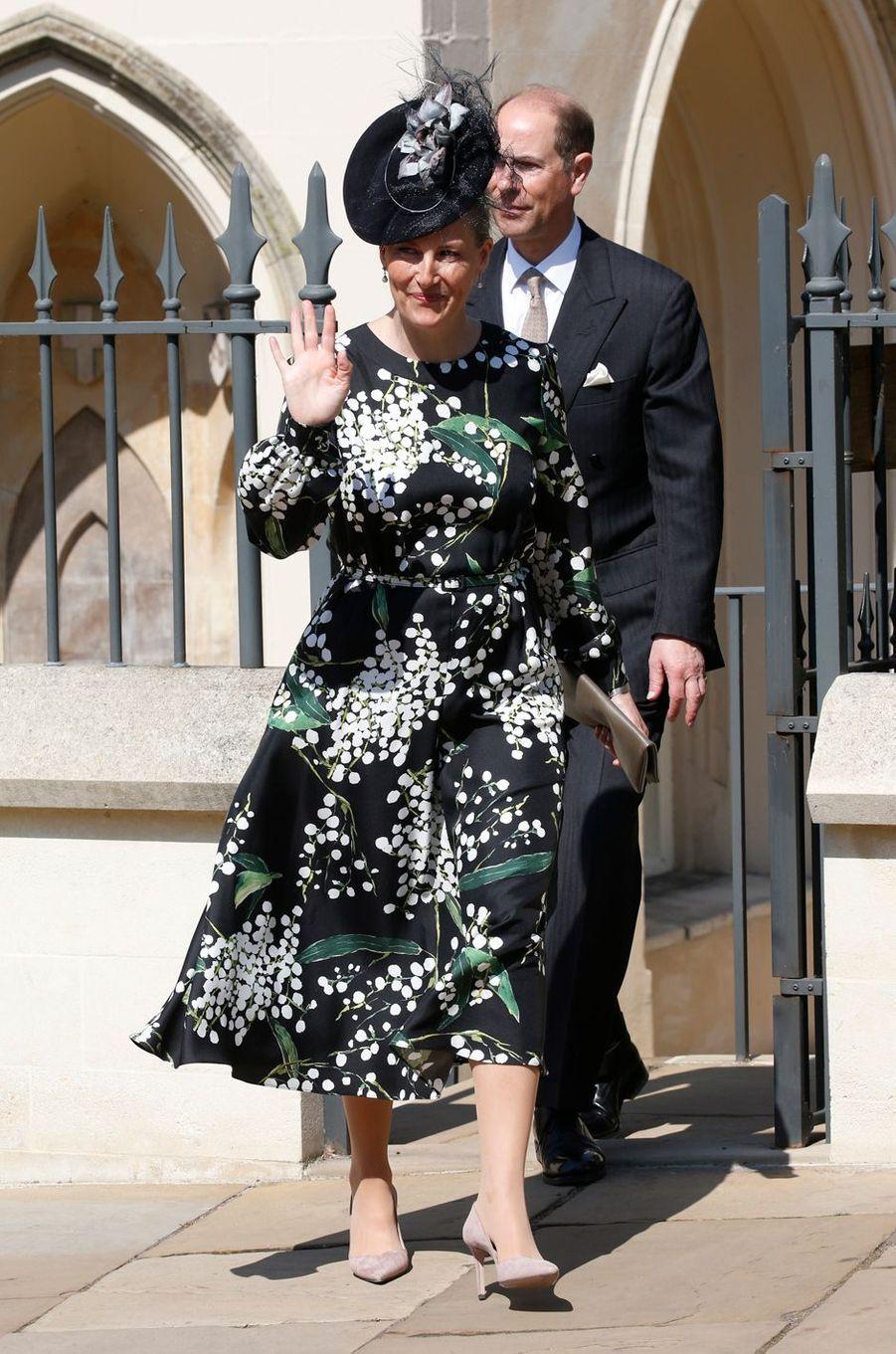 La comtesse Sophie de Wessex à Windsor, le 21 avril 2019