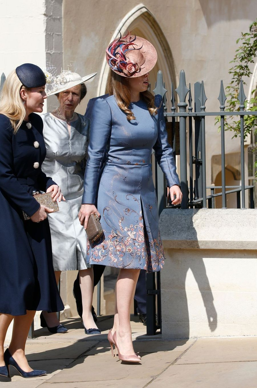 Autumn Phillips, la princesse Anne et la princesse Beatrice d'York à Windsor, le 21 avril 2019