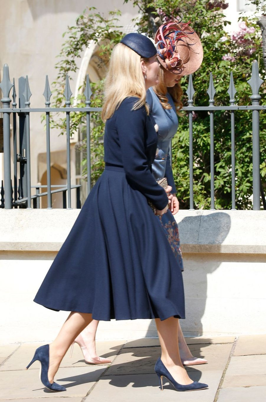 Autumn Phillips et la princesse Beatrice d'York à Windsor, le 21 avril 2019