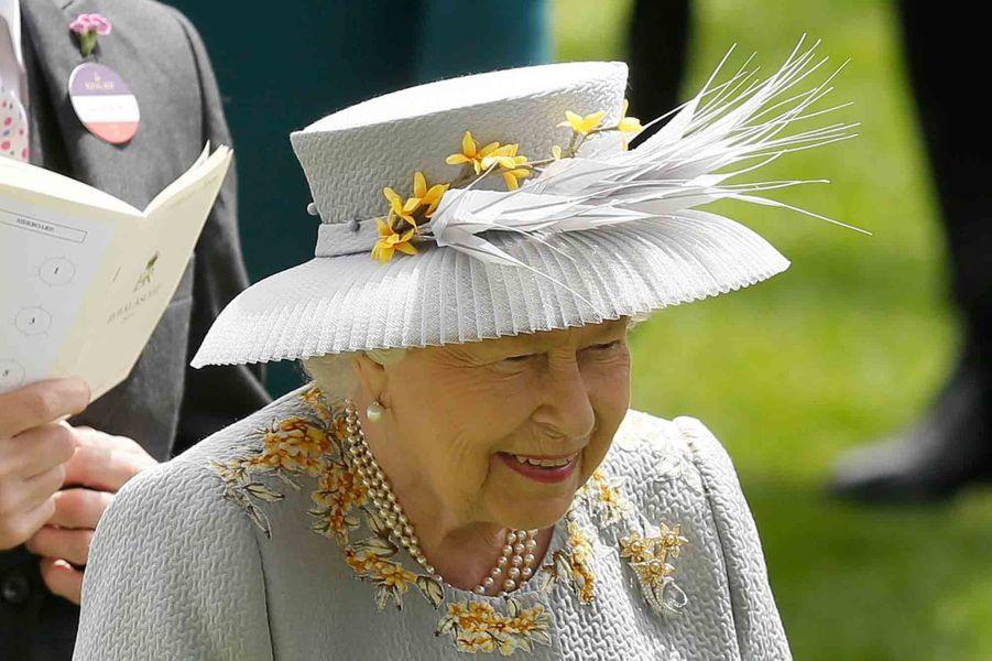 Le chapeau de la reine Elizabeth II au Royal Ascot, le 20 juin 2019