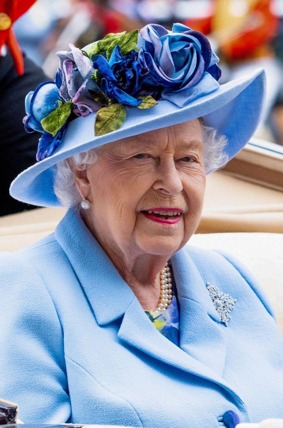 Le chapeau de la reine Elizabeth II au Royal Ascot, le 18 juin 2019