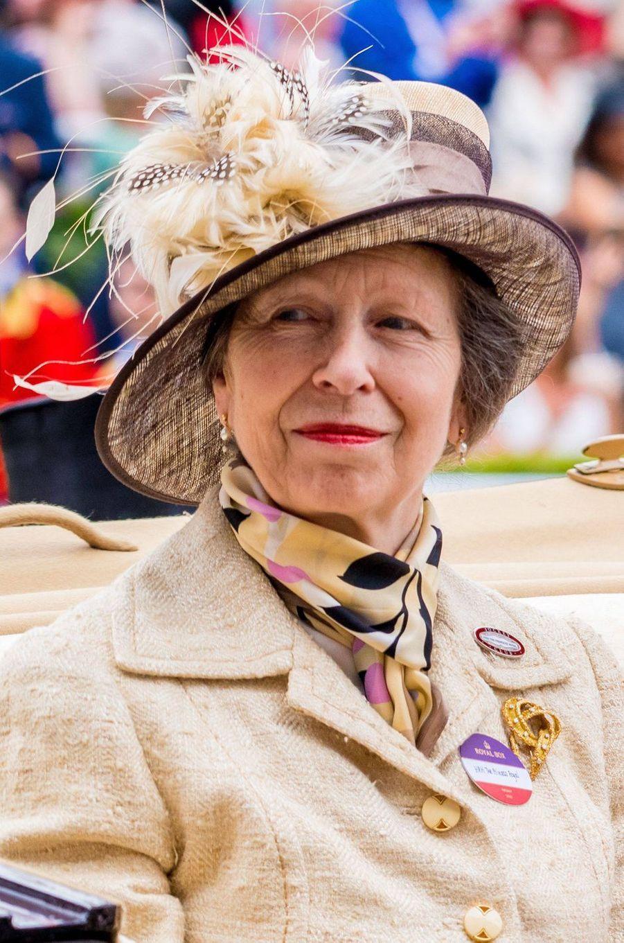Le chapeau de la princesse Anne au Royal Ascot, le 18 juin 2019