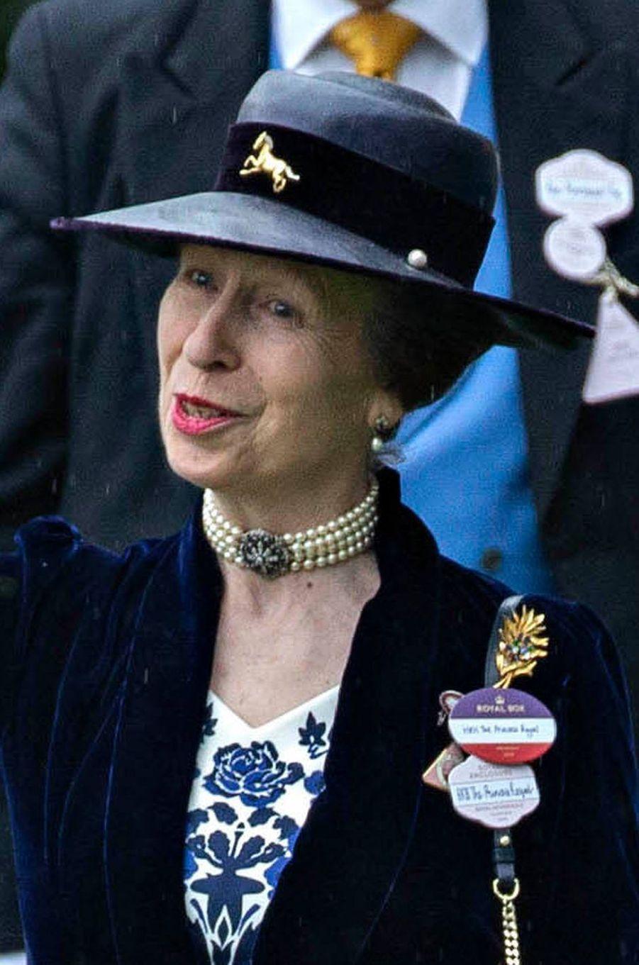Le chapeau de la princesse Anne au Royal Ascot, le 19 juin 2019