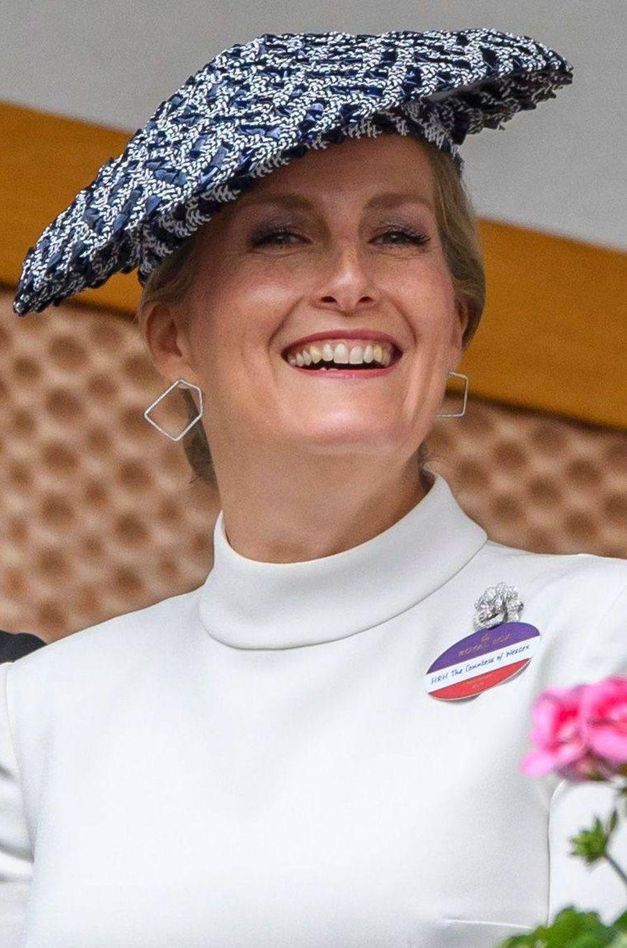 Le chapeau de la comtesse Sophie de Wessex au Royal Ascot, le 19 juin 2019