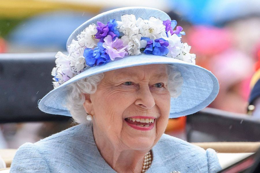 Le chapeau de la reine Elizabeth II au Royal Ascot, le 19 juin 2019