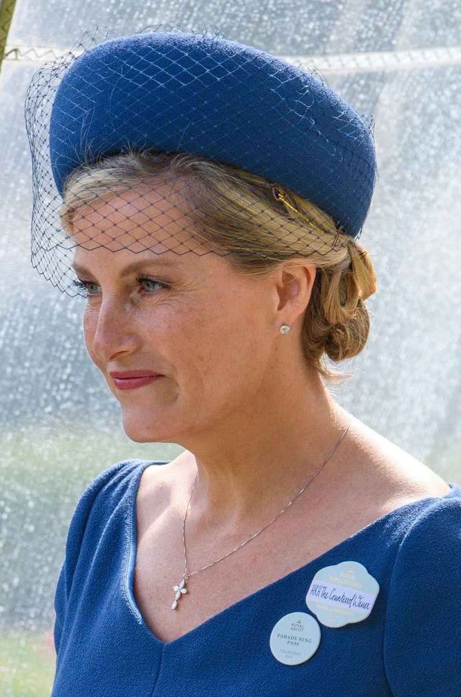 Le chapeau de la comtesse Sophie de Wessex au Royal Ascot, le 20 juin 2019