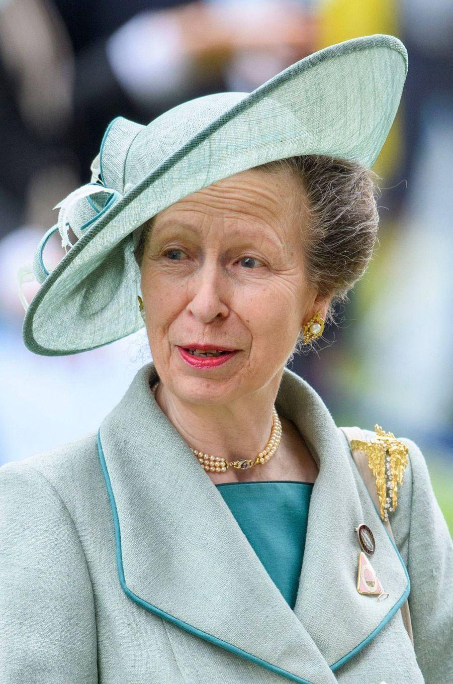 Le chapeau de la princesse Anne au Royal Ascot, le 20 juin 2019