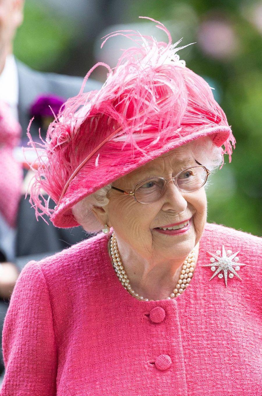 Le chapeau de la reine Elizabeth II au Royal Ascot, le 21 juin 2019