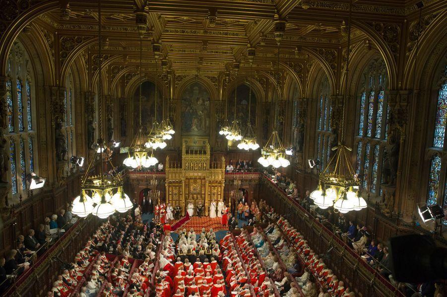Cérémonie d'ouverture du Parlement à Londres, le 18 mai 2016