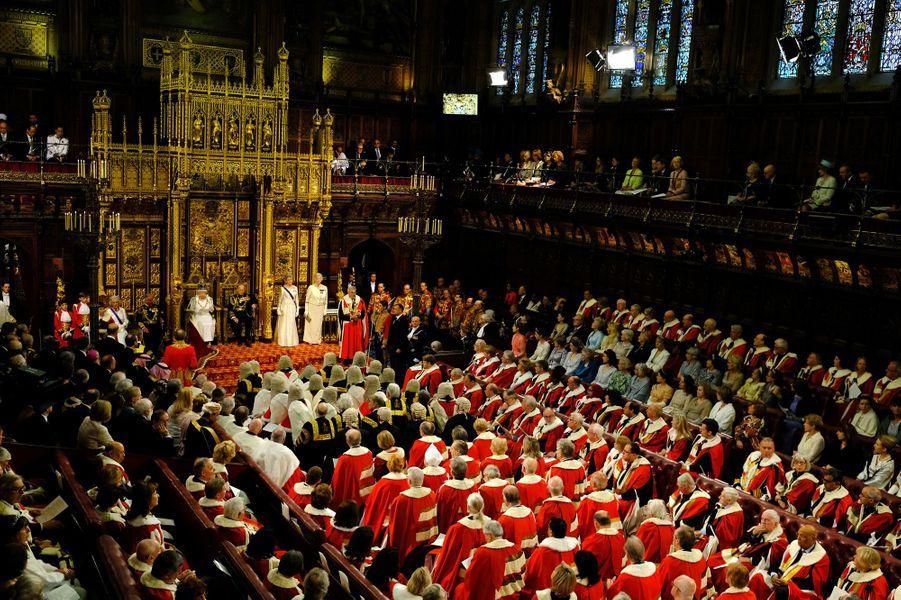 La cérémonie d'ouverture du Parlement à Londres, le 18 mai 2016