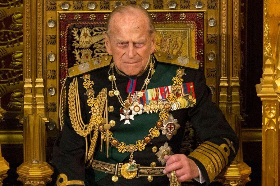 Le prince Philip au Parlement à Londres, le 18 mai 2016