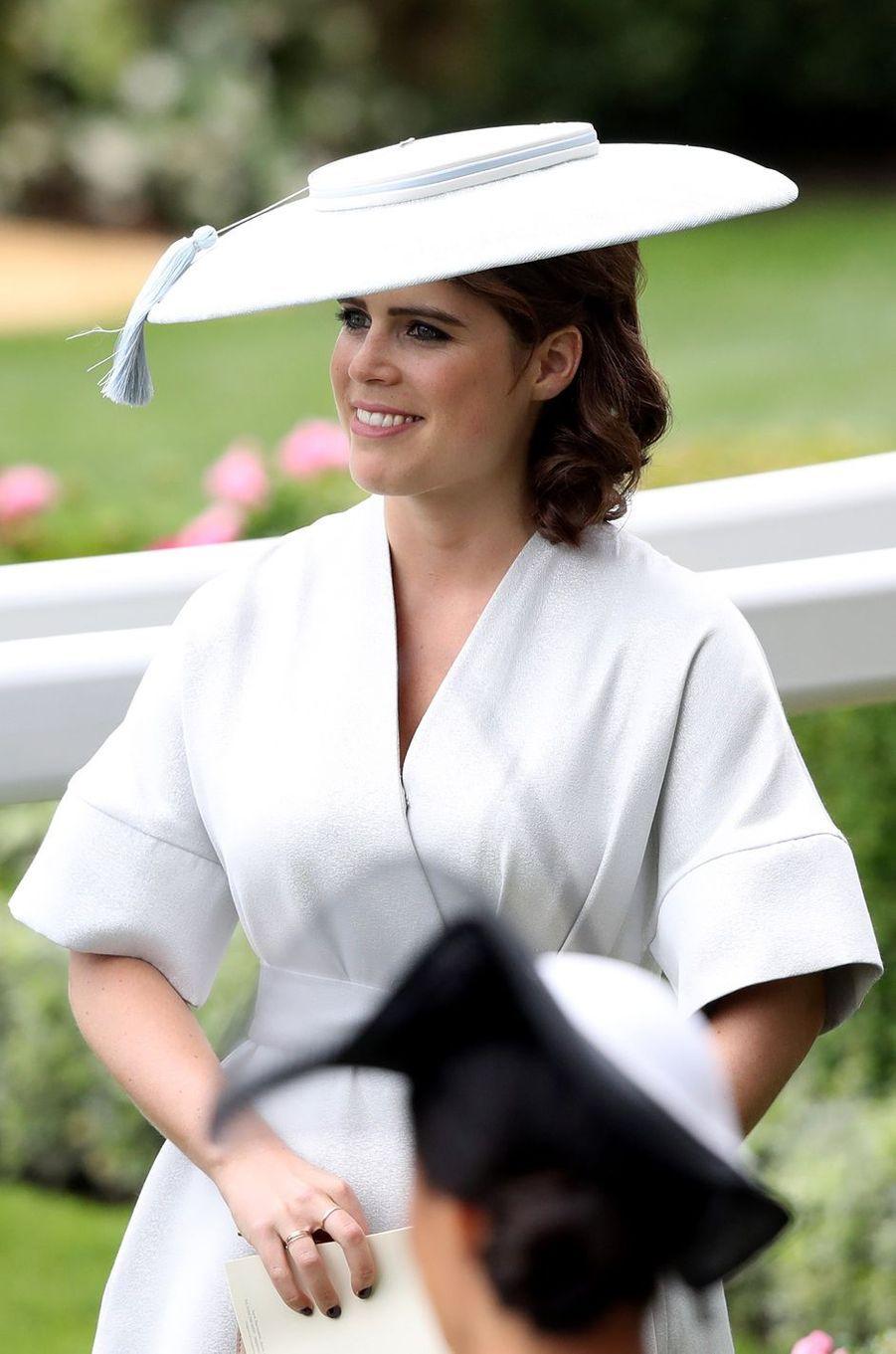 La princesse Eugenie d'York au Royal Ascot, le 19 juin 2018
