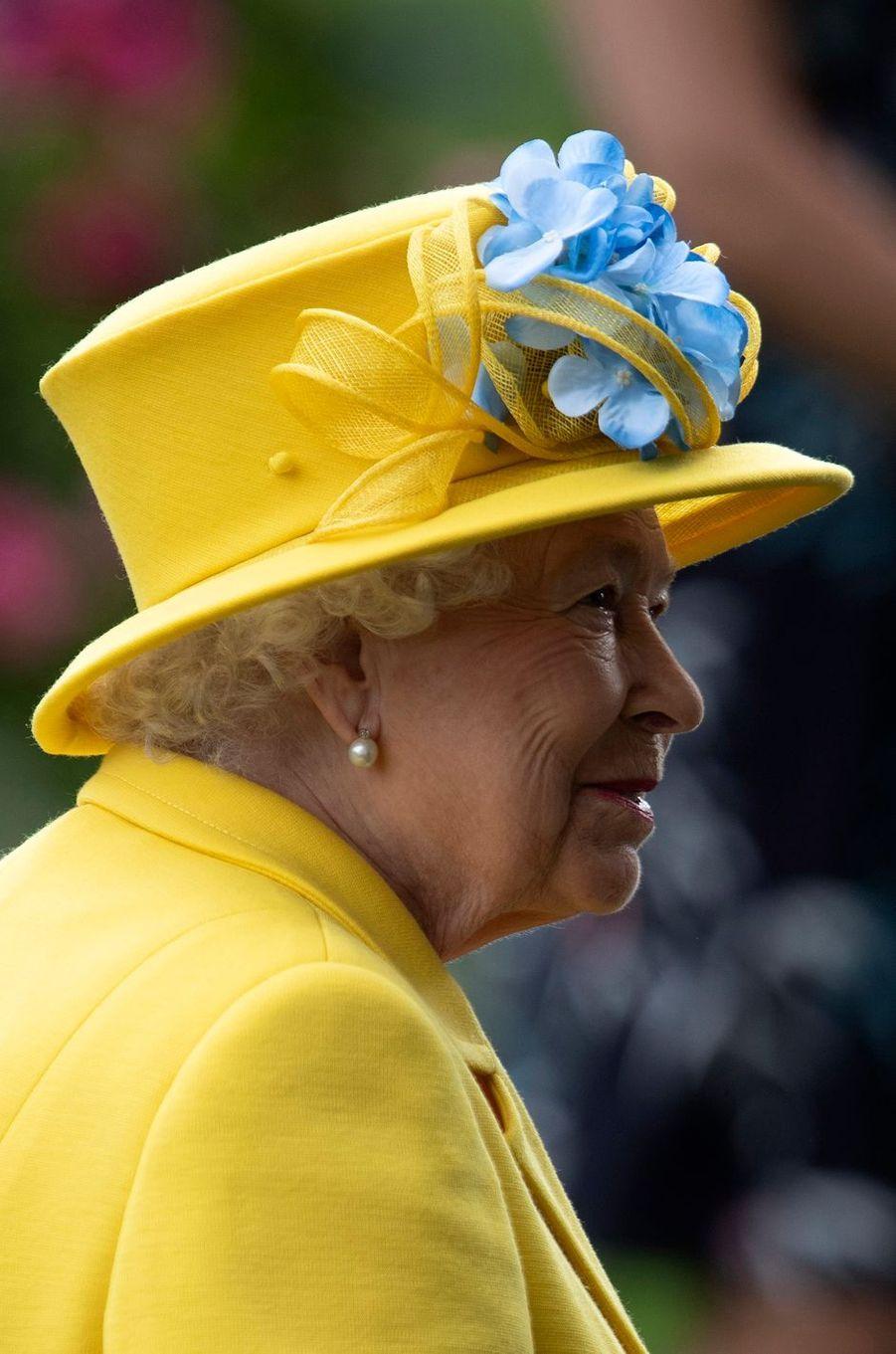 La reine Elizabeth II, le 19 juin 2018 au Royal Ascot