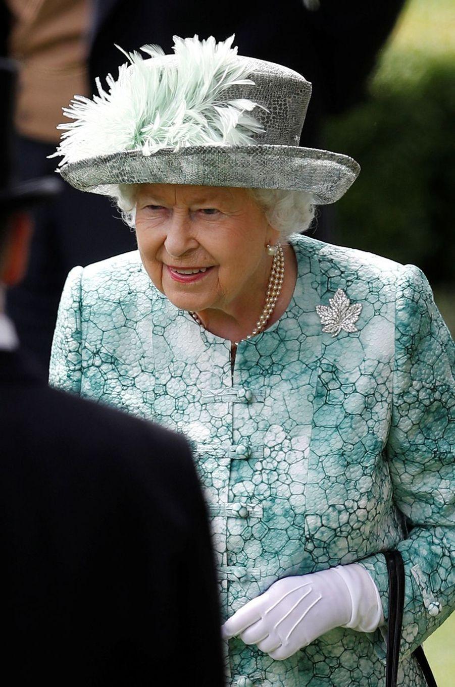 La reine Elizabeth II au Royal Ascot, le 23 juin 2018