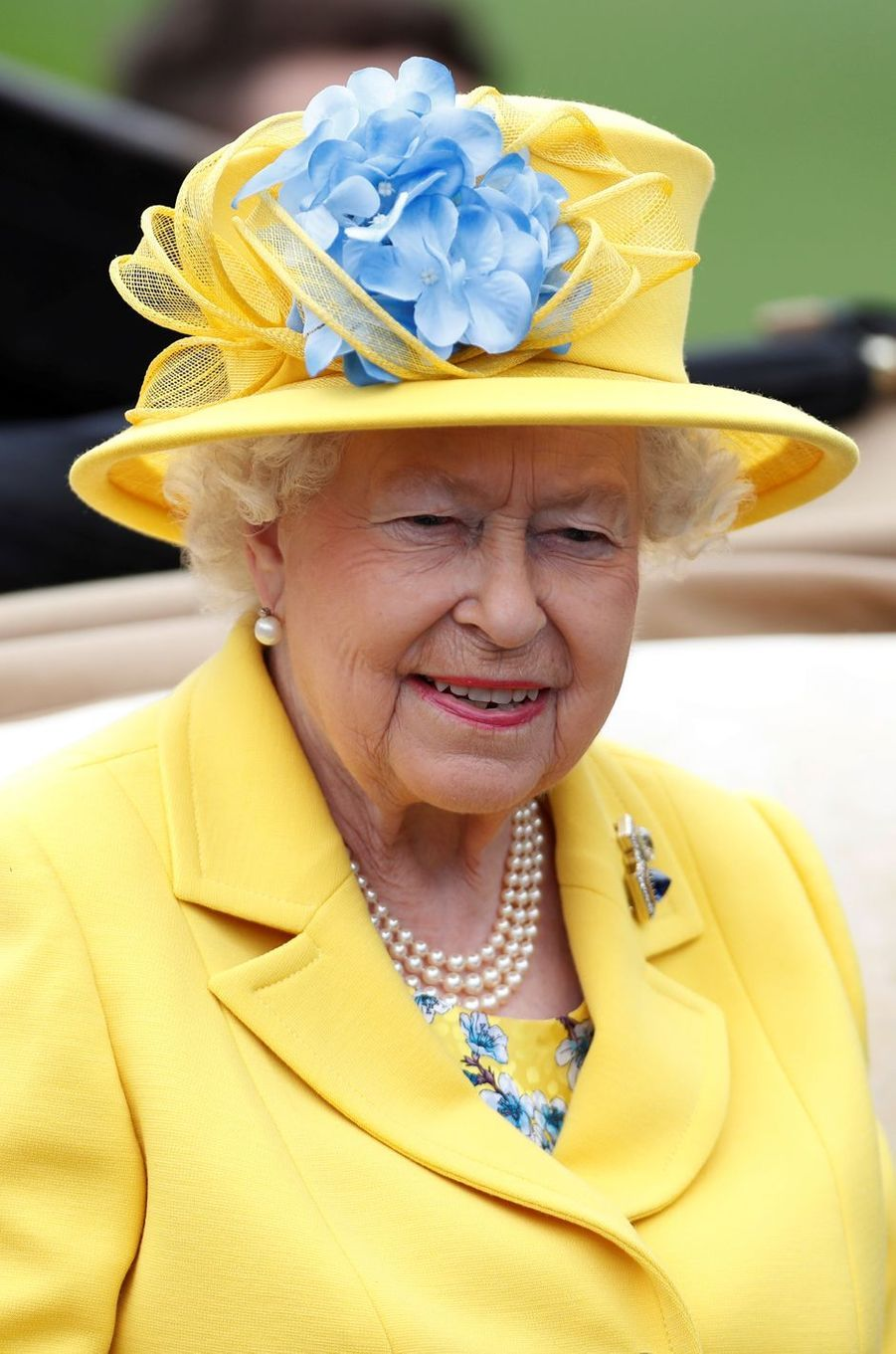 La reine Elizabeth II au Royal Ascot, le 19 juin 2018