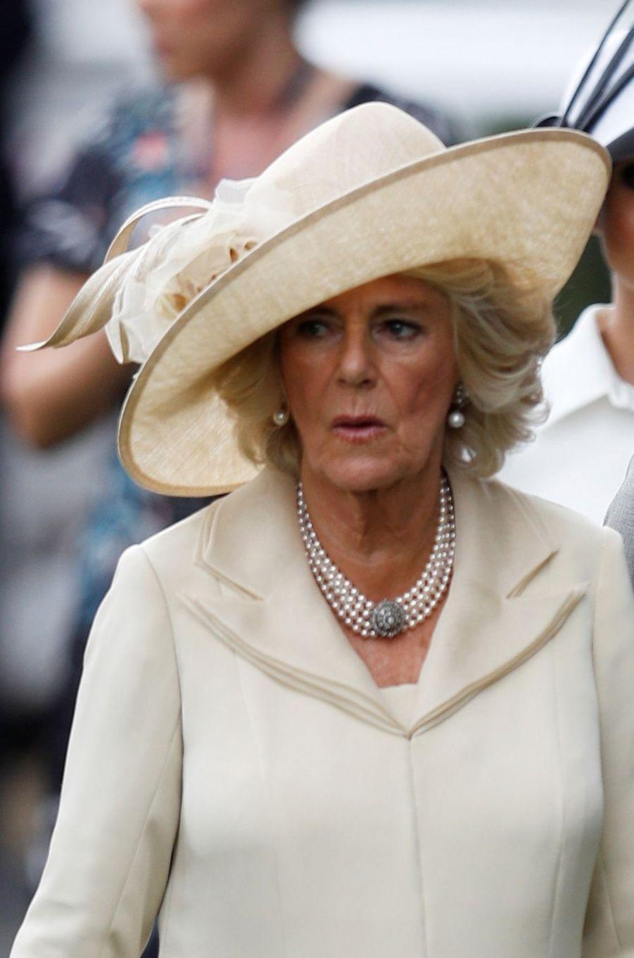 La duchesse de Cornouailles Camilla au Royal Ascot, le 19 juin 2018