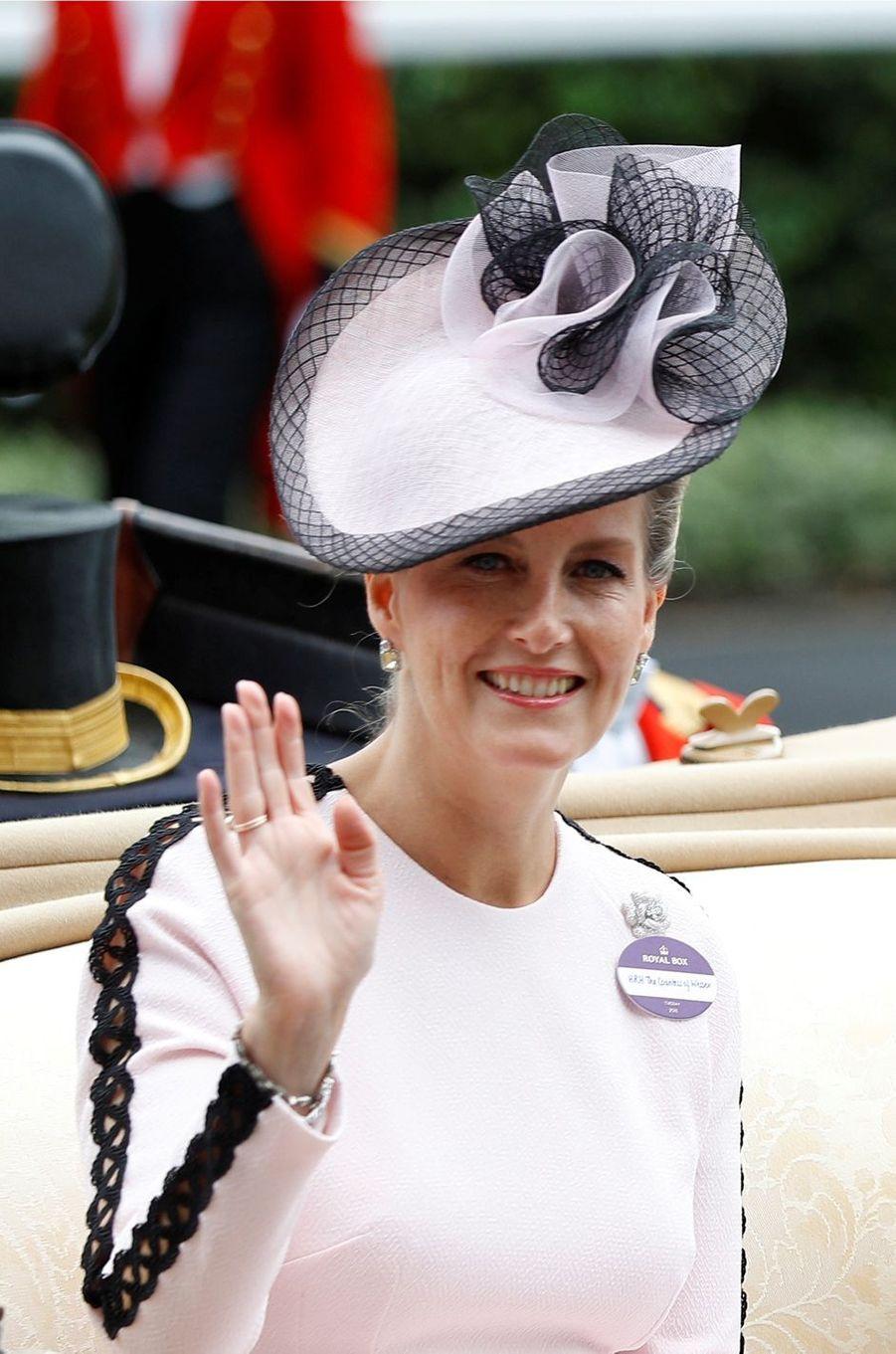 La comtesse Sophie de Wessex, le 19 juin 2018 au Royal Ascot