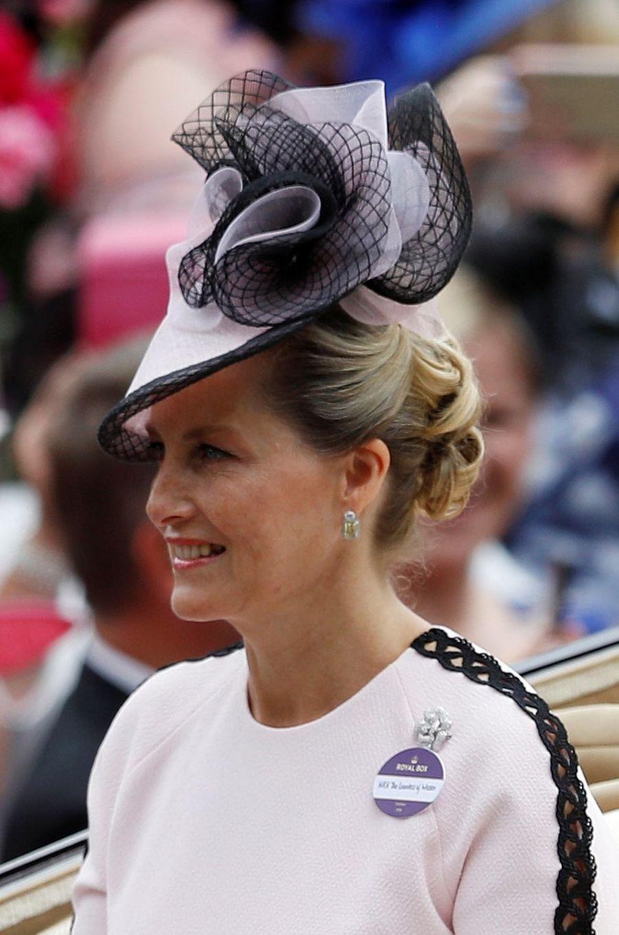 La comtesse Sophie de Wessex au Royal Ascot, le 19 juin 2018