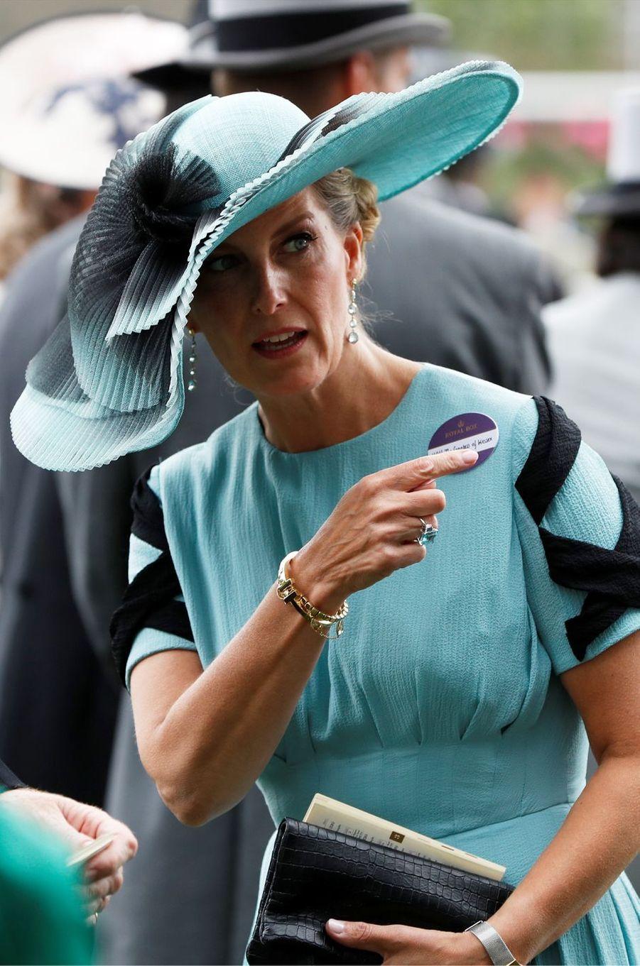 La comtesse Sophie de Wessex au Royal Ascot, le 20 juin 2018