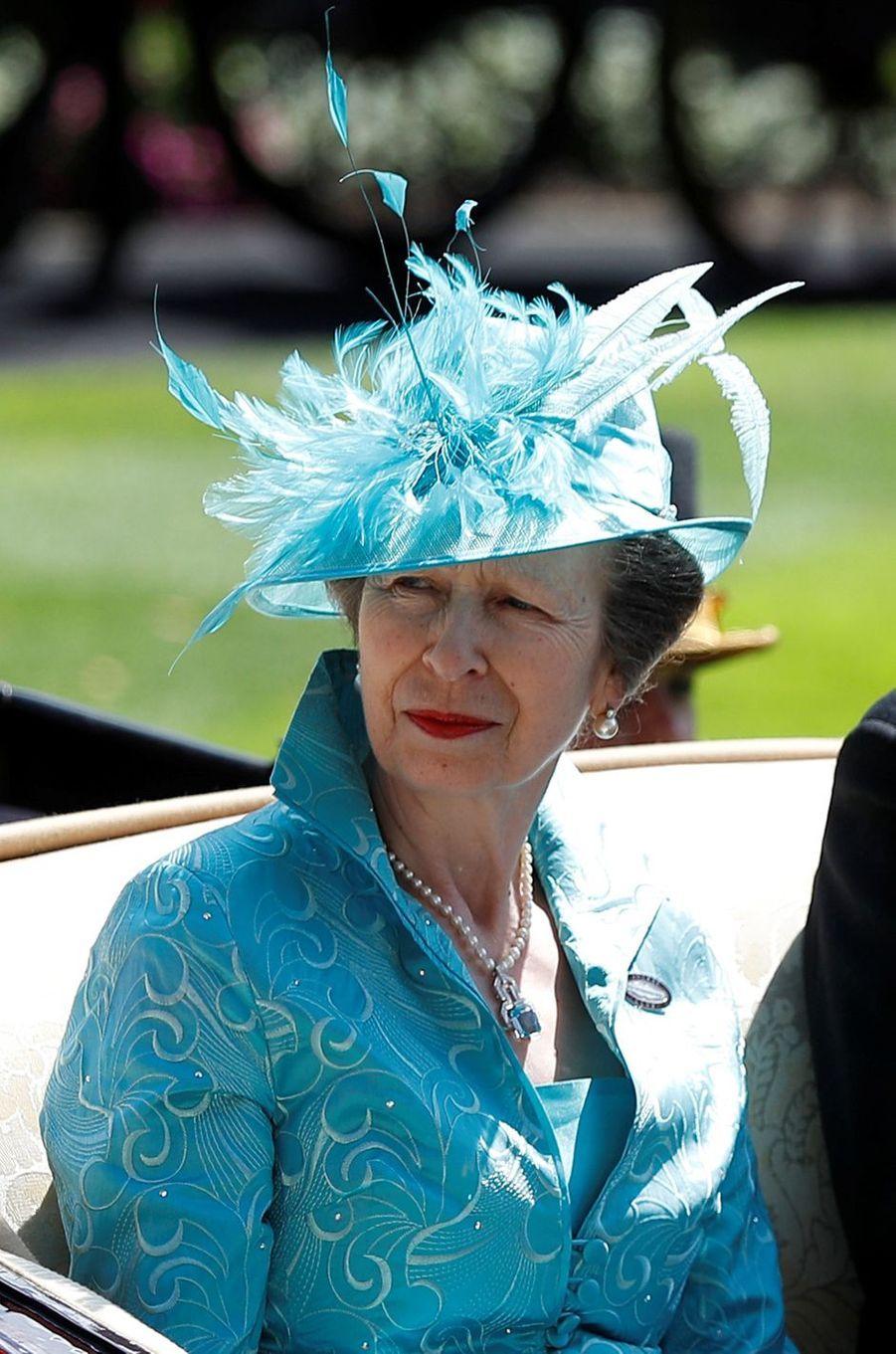 La princesse Anne au Royal Ascot, le 21 juin 2018