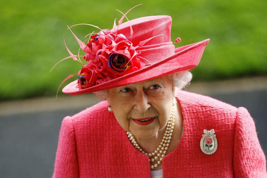La reine Elizabeth II au Royal Ascot, le 21 juin 2018