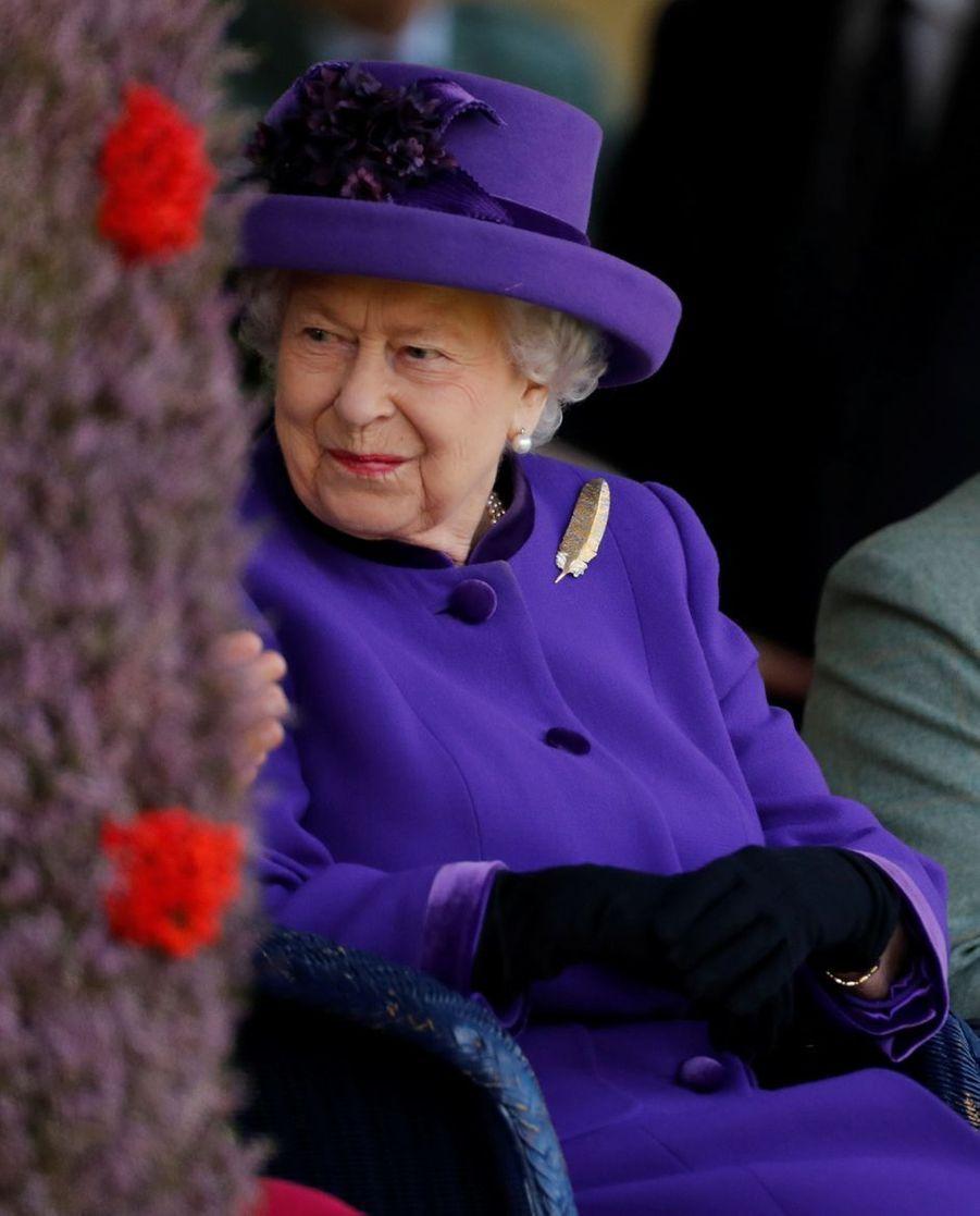 La reine Elizabeth II au Highlands Braemar Gathering, le 6 septembre 2019