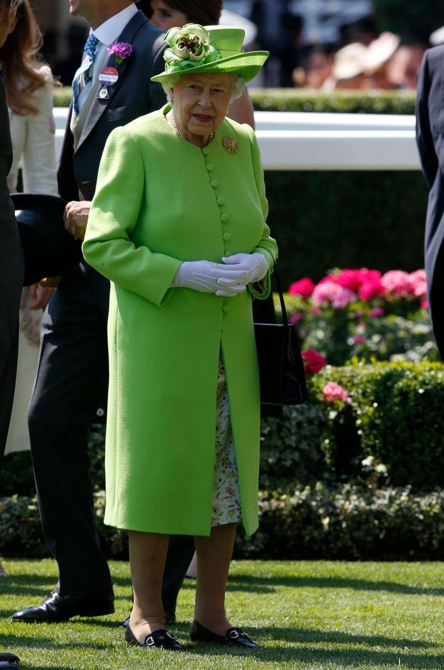 La reine Elizabeth II au Royal Ascot, le 20 juin 2017