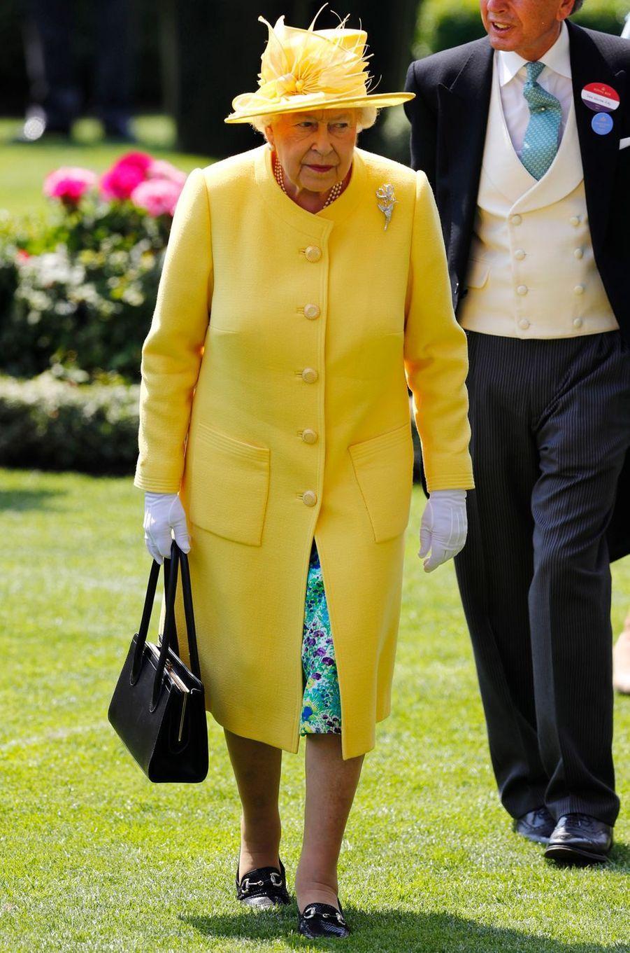 La reine Elizabeth II au Royal Ascot, le 21 juin 2017