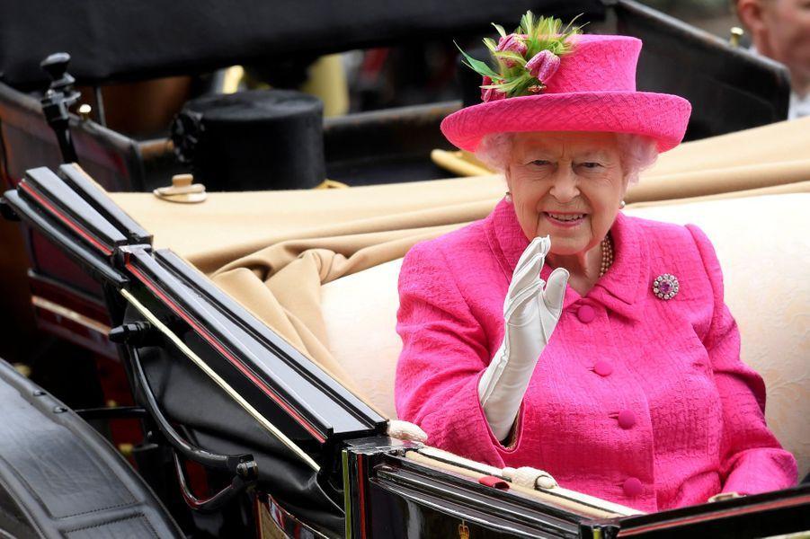 La reine Elizabeth II au Royal Ascot, le 22 juin 2017
