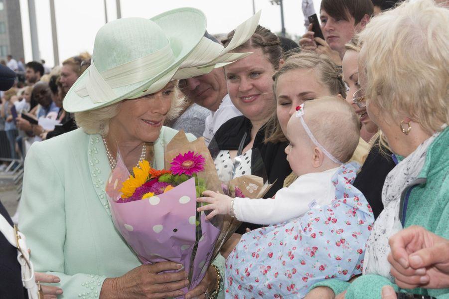 La duchesse de Cornouailles Camilla à Cardiff, le 7 juin 2016