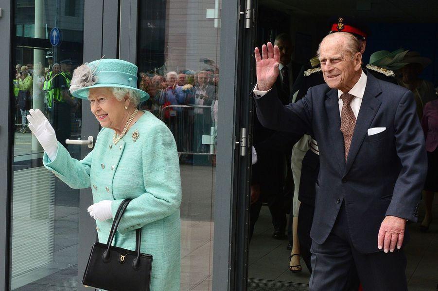 La reine Elizabeth II et le prince Philip à Londres, le 7 juin 2016