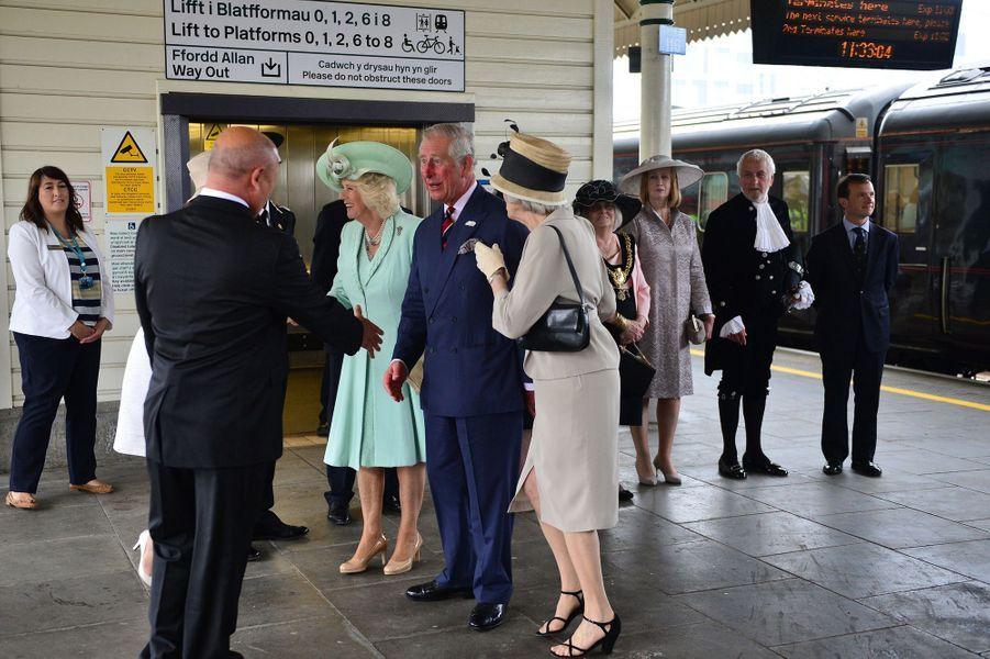 Le prince Charles et la duchesse de Cornouailles Camilla à Londres, le 7 juin 2016