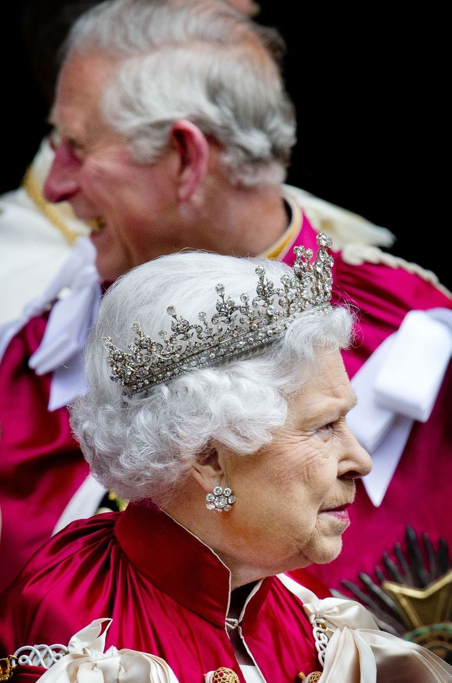 La reine Elizabeth II à Londres, le 9 mai 2014