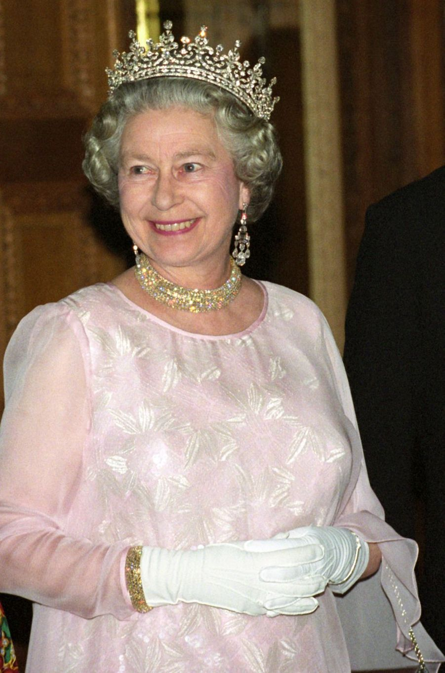 La reine Elizabeth II à Berlin, le 21 octobre 1992