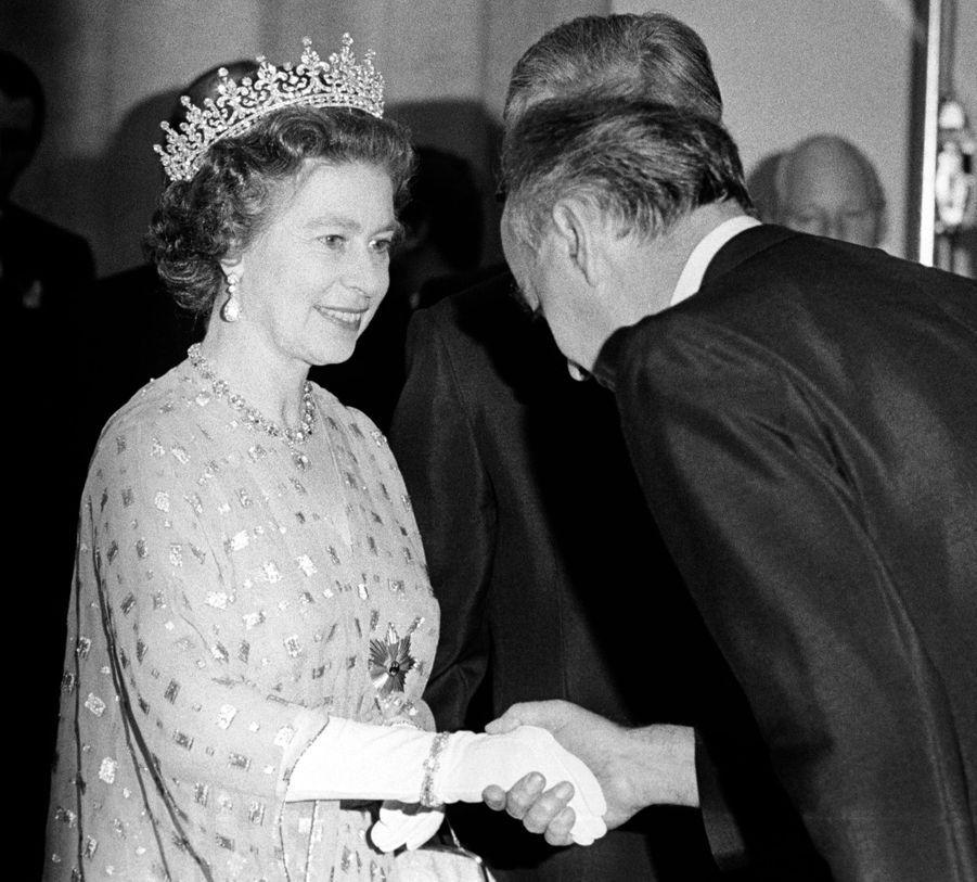 La reine Elizabeth II à Mainz le 23 mai 1978