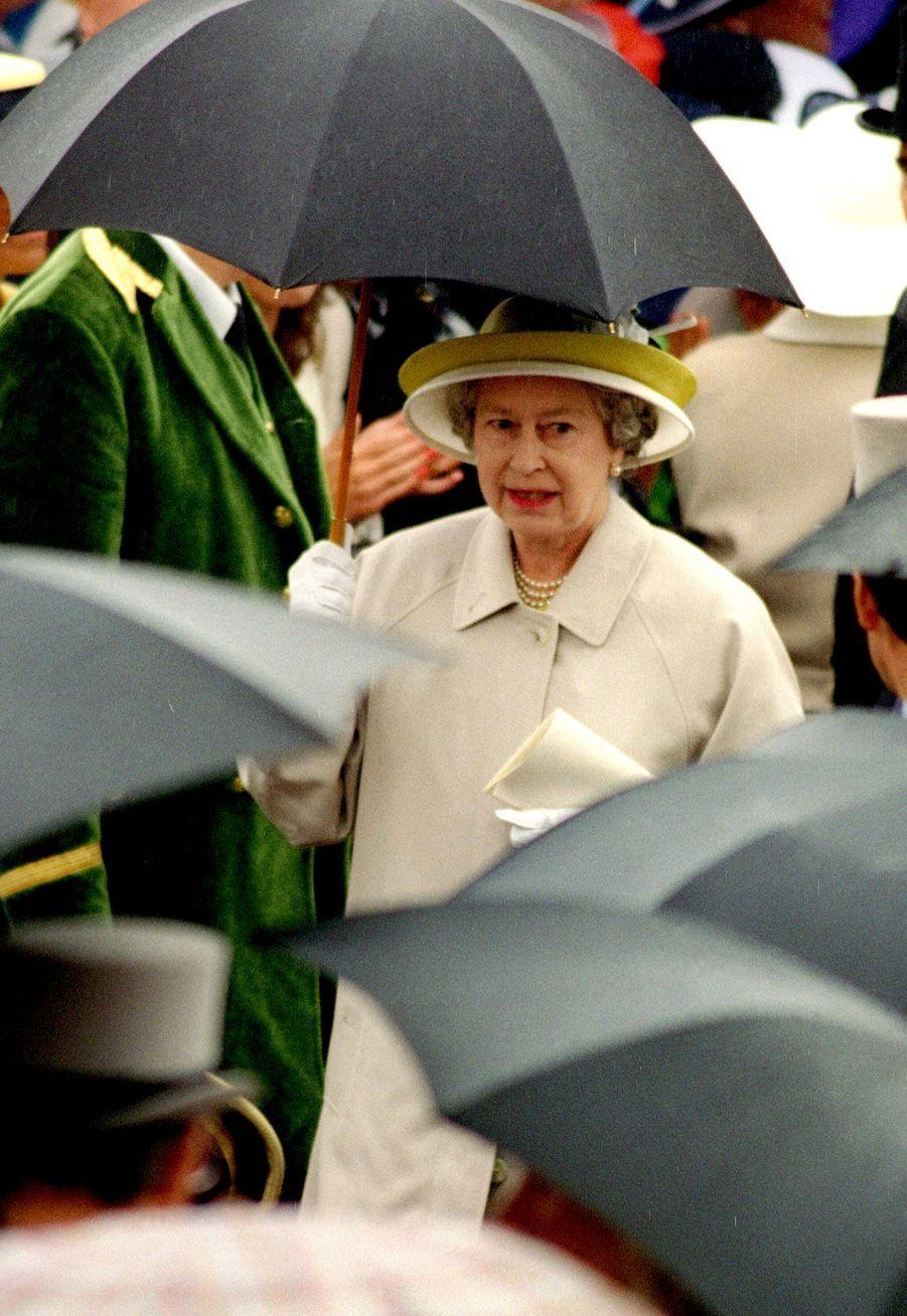 La reine Elizabeth II à Ascot (juin 1993)