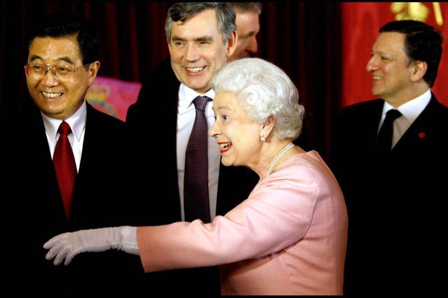 La reine Elizabeth II à Buckingham pour le G20 (avril 2009)