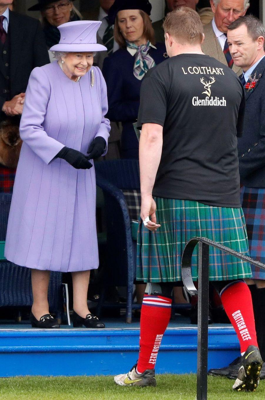 La reine Elizabeth II à Braemar, le 3 septembre 2016