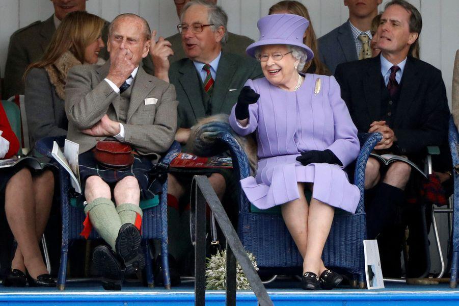 La reine Elizabeth II et le prince Philip à Braemar, le 3 septembre 2016