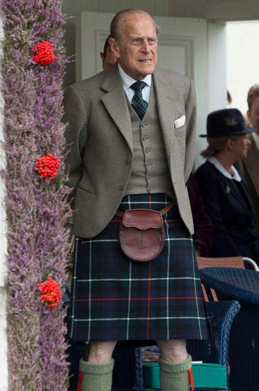 Le prince Philip à Braemar, le 3 septembre 2016